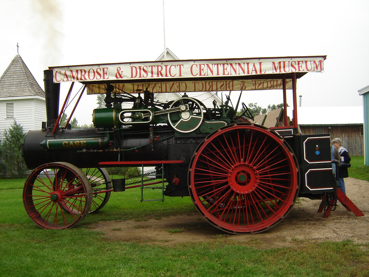 Case Steam Tractor Diagram : Weekend running the case hp steam traction engine